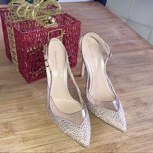 Gianvito Rossi crystal gold high heels